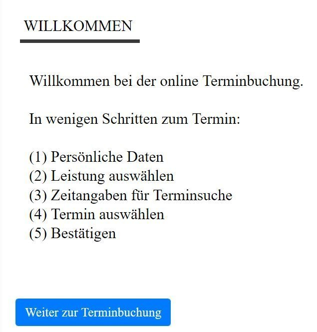 Rolfing Online Termin Appointment - Willkommen