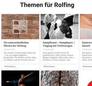 Rolfing Blog