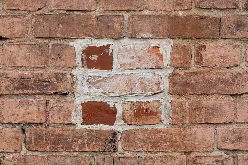 repaired brick wall as an image for different levels of healing